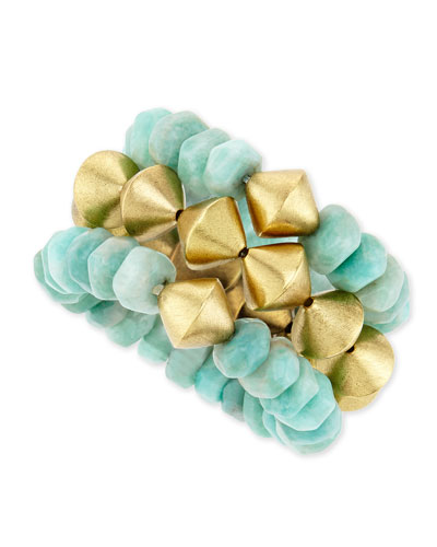 14K Amazonite Bracelets, Set of 3