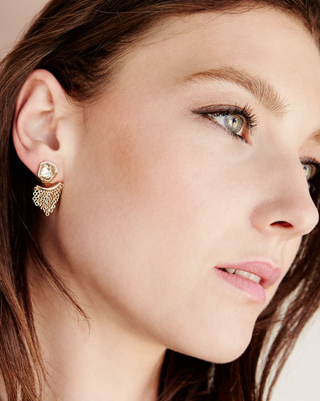 Kite Post Earrings w/Jagged Cluster Jacket