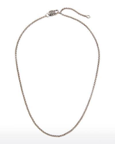 Sterling Silver Adjustable Chain Necklace  18-20L