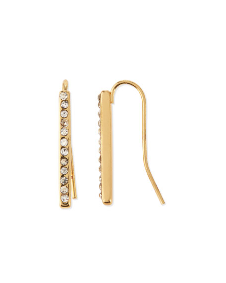 Jules Smith Pavé Bar Drop Earrings