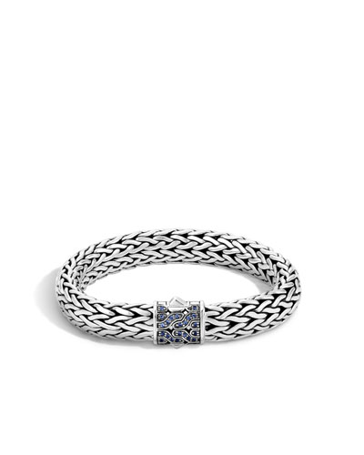 40th Anniversary Classic Chain Large Lava Bracelet w/Blue Sapphire