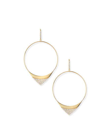 Lana Large Electric Diamond Hoop Earrings