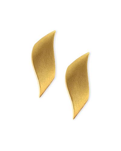 24k-Plate Bronze Flame Earrings
