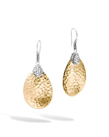 John Hardy Classic Chain Small Diamond Drop Earrings