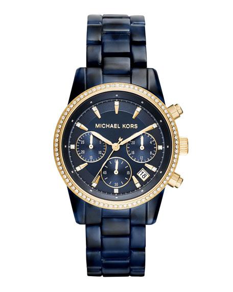 Ritz 37mm Acetate Chronograph Watch