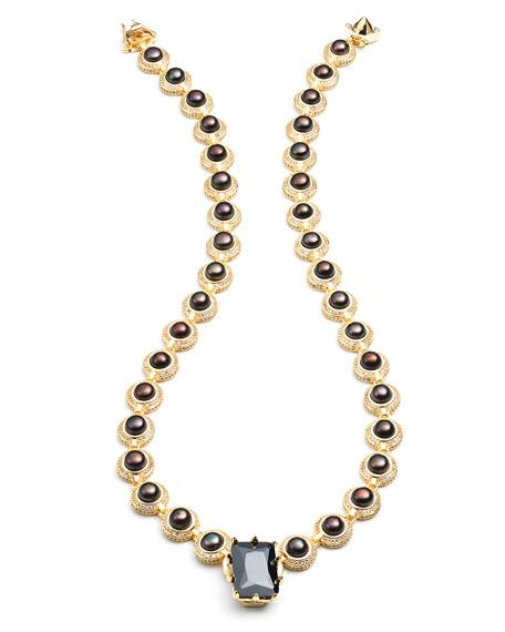 Eddie Borgo Estate Rose Pearl Necklace