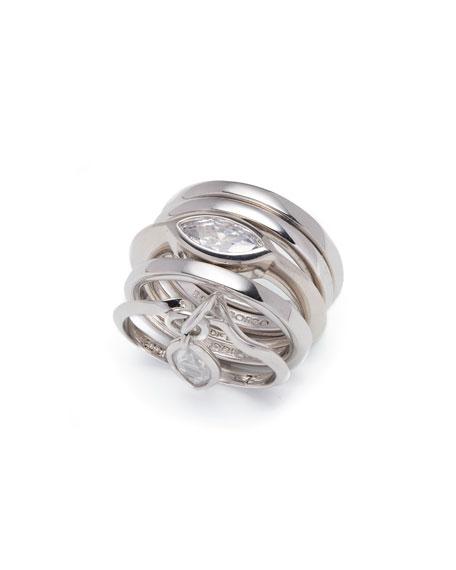 Navette Crystal Charm Ring