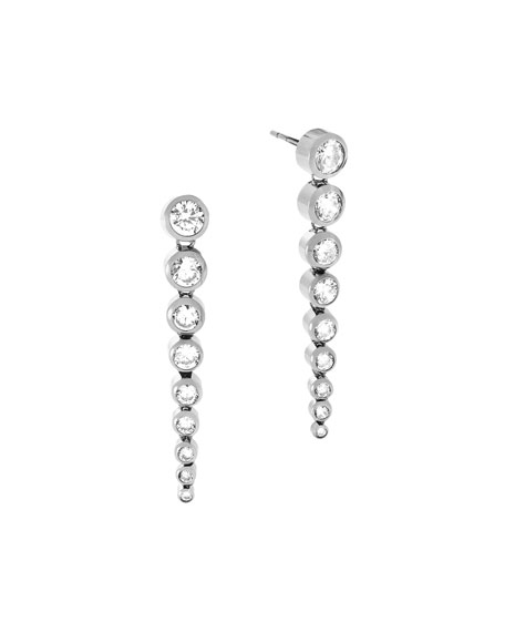 Michael Kors Park Avenue Tapered Crystal Statement Earrings