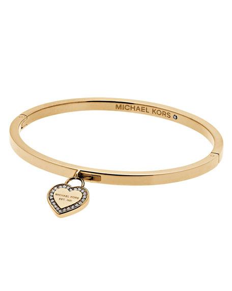 MK Logo Heart Charm Bracelet