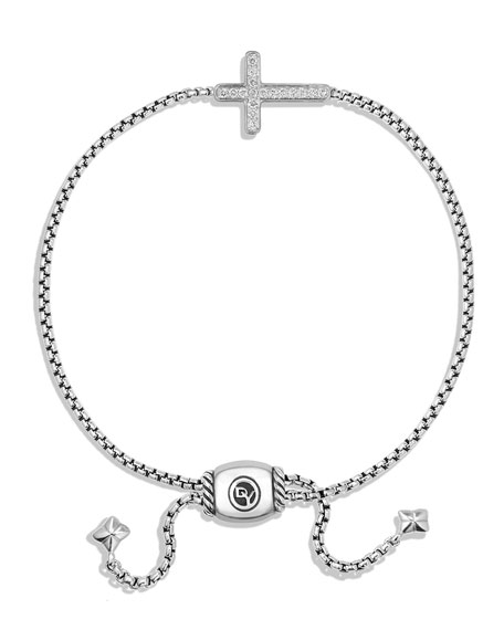 Image 3 of 4: David Yurman Petite Pave Diamond Cross Bracelet