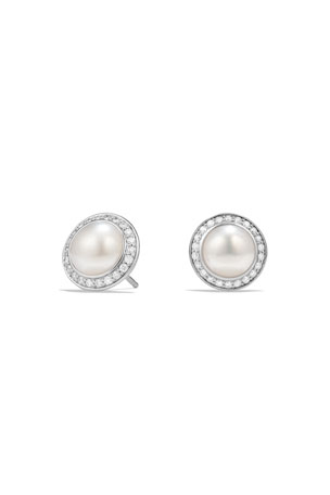 David Yurman Cerise Pearl Earring with Diamonds