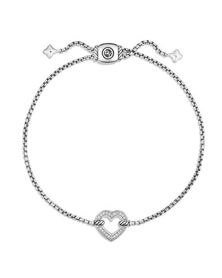 David Yurman Valentine Hearts Diamond Station Bracelet