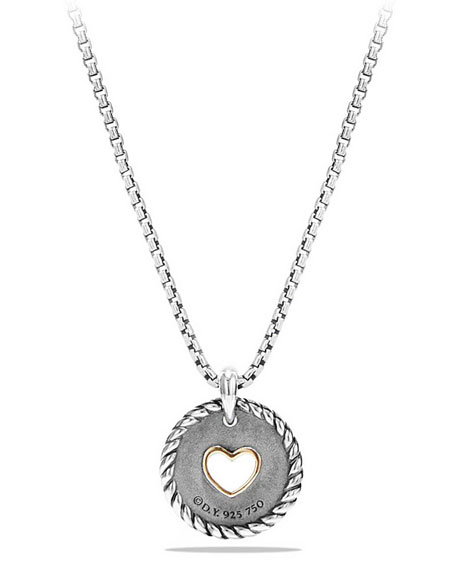 Petite Pavé Diamond Heart Pendant Necklace