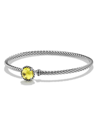 Chatelaine 8mm Lemon Citrine Bracelet