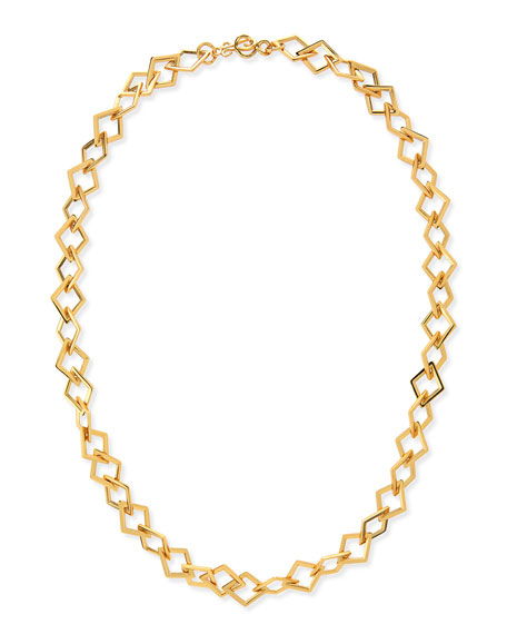 Element Square Link Chain Necklace, 42""