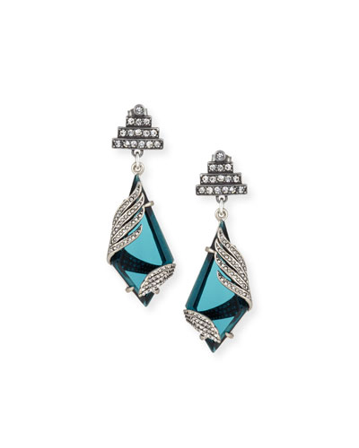 Reflection Tiered Crystal-Wrap Earrings