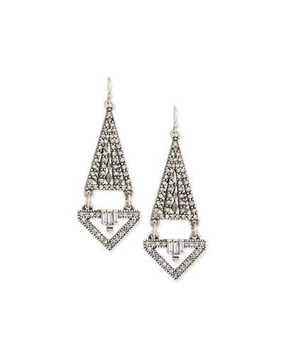 Lucent Triangular Double-Drop Earrings