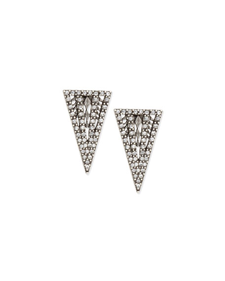 Lulu Frost Lucent Crystal Triangle Stud Earrings