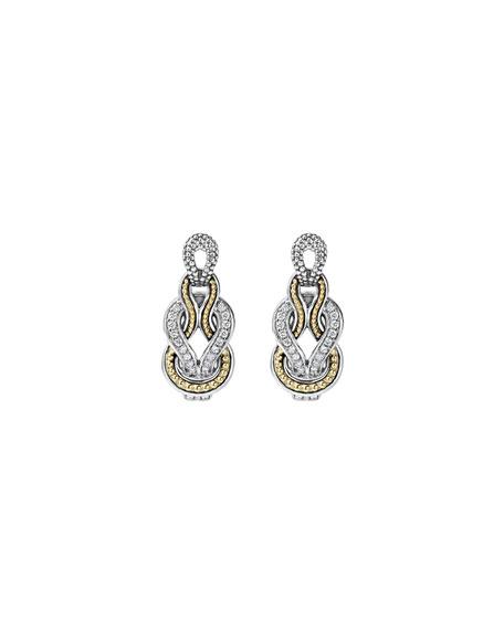 Newport Elongated 18K Gold Diamond Rope Earrings