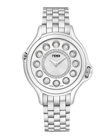 Fendi Timepieces 38mm Crazy Carats Stainless Steel Watch