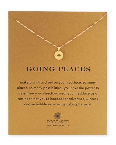 Going Places Compass Pendant Necklace