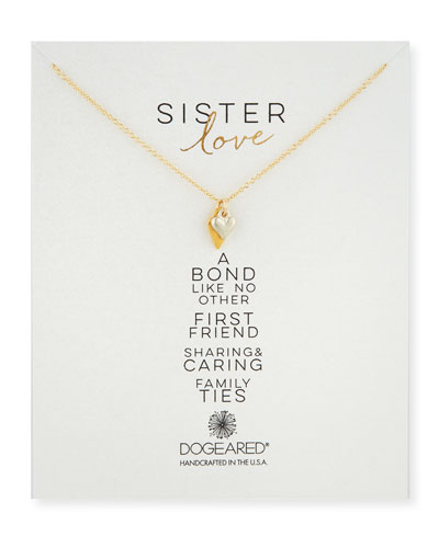 Sister Love Pendant Necklace