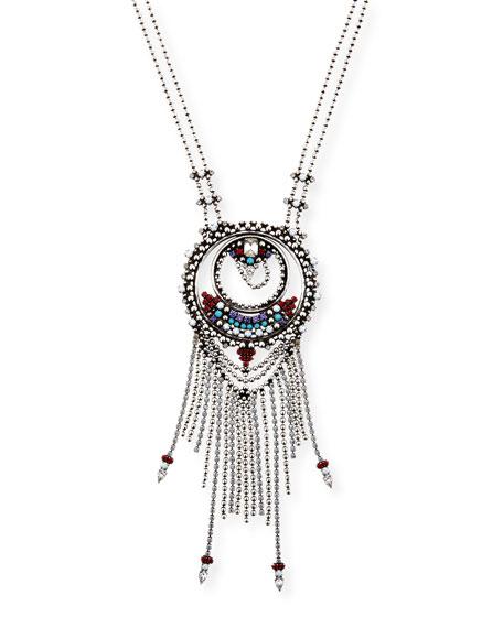 Dannijo Camryn Chain Fringe Pendant Necklace