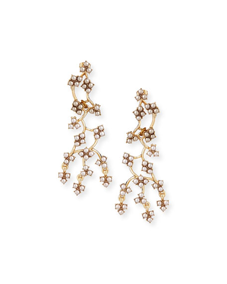 Jackie Web Dangling Earrings