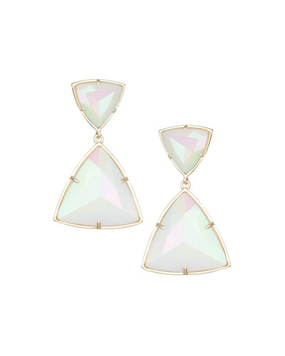 Maury Triangle Drop Earrings, Iridescent