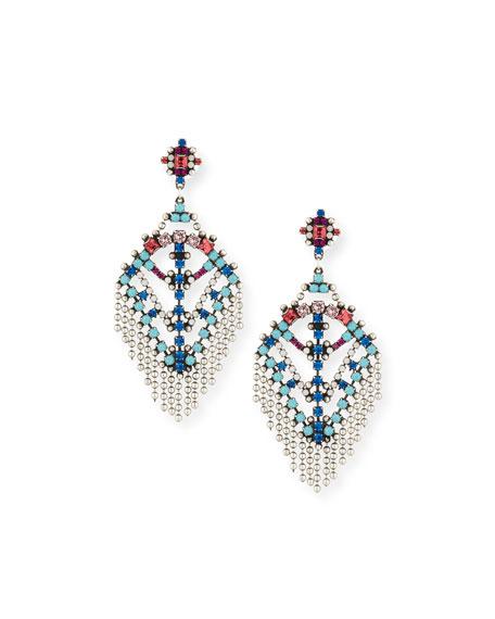 Dannijo Coraza Bead Fringe Earrings