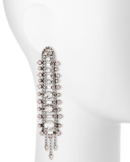 Almendra Elongated Crystal Drop Earrings