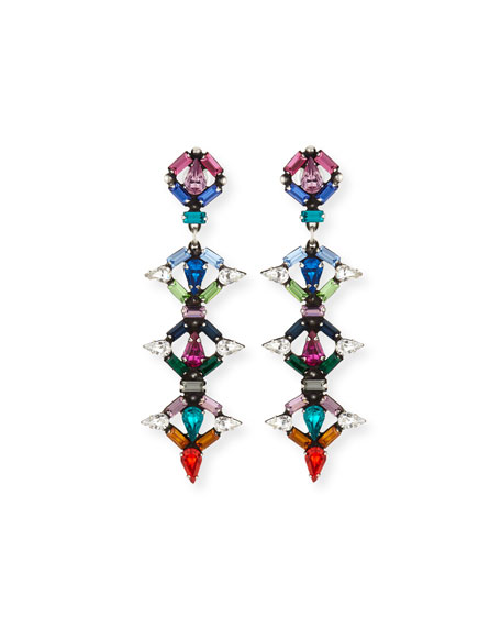 Dannijo Kosma Multicolor Crystal Drop Earrings