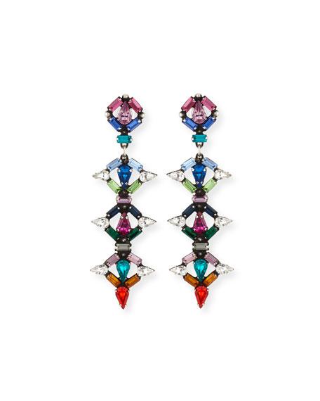 Dannijo Kosma Multicolor Crystal Drop Earrings