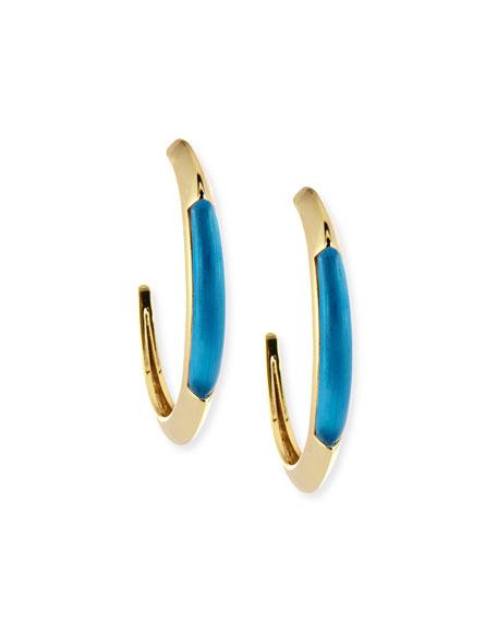 Alexis Bittar Crescent Hoop Earrings, Azure