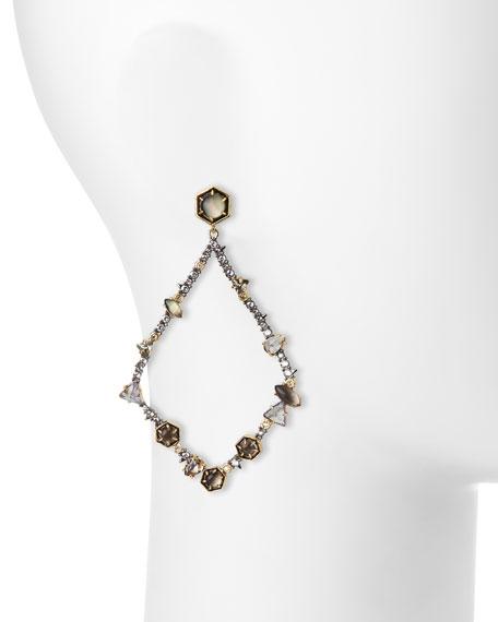Dangling Multi-Crystal Teardrop Earrings