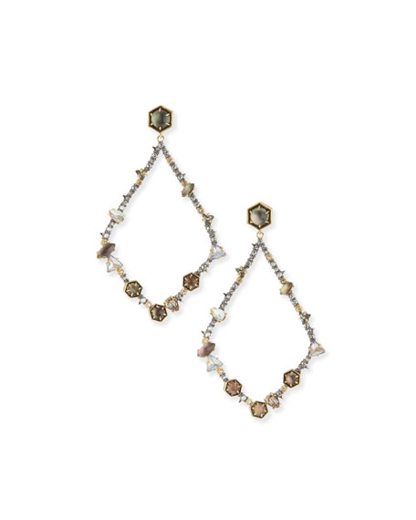 Alexis Bittar Dangling Multi-Crystal Teardrop Earrings