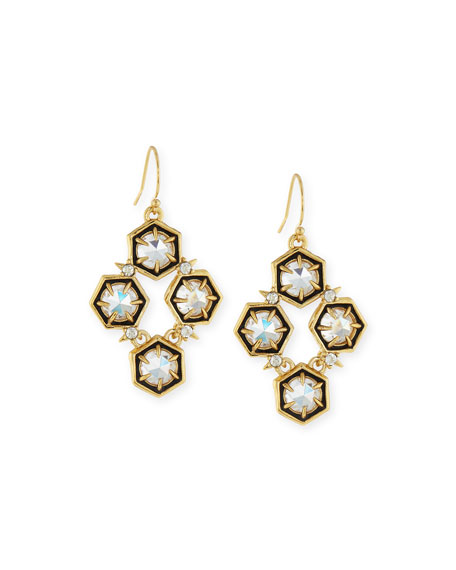 Alexis Bittar Mosaic Crystal Drop Earrings, Clear