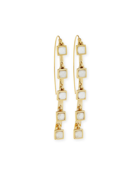 Alexis Bittar Five-Stone Crystal Charm Dangle Earrings