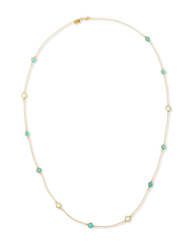 give me a ring scattered station necklace, 40