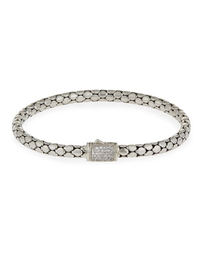 Dot Medium Pavé Diamond Chain Bracelet, 5mm