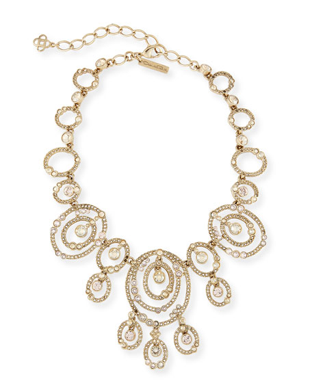 Oscar de la Renta Loop Crystal Station Necklace
