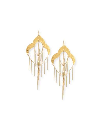18K Fringe Chandelier Earrings