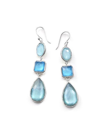 Ippolita Wonderland Three-Drop Earrings in Blue Star
