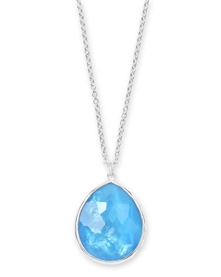 IppolitaWonderland Large Pendant Necklace in Ice