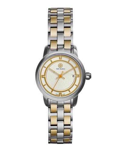 28mm Tory Two-Tone Bracelet Strap Watch, Silver/Golden
