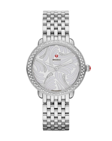 MICHELE 16mm Serein Diamond Swan Watch Head in