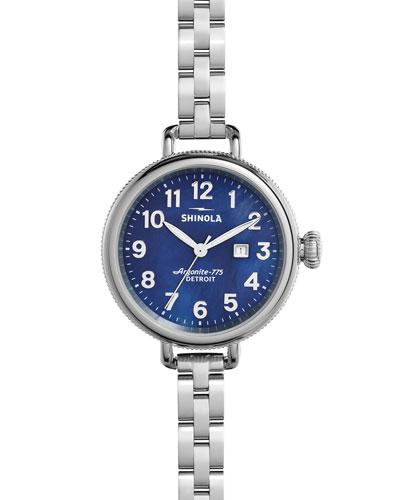 34mm Birdy Bracelet Watch, Navy