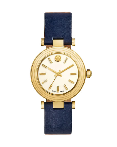 Tory Burch Classic T Stainless Steel Watch, Navy