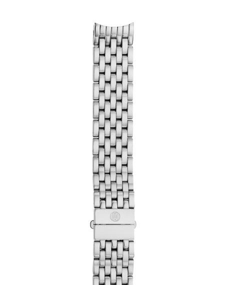MICHELE Deco II Midsize Seven-Link Bracelet Strap, Silver