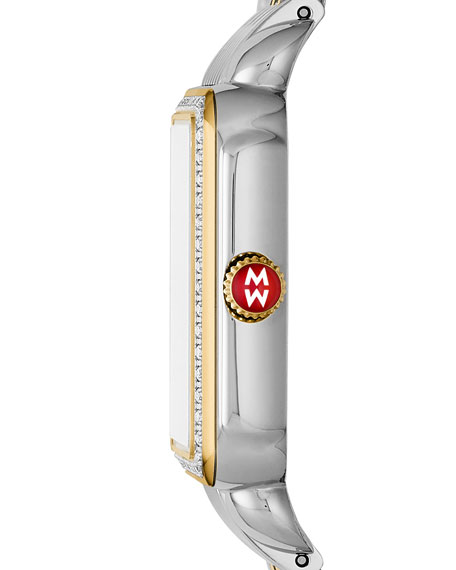 18mm Deco II Diamond Watch Head, Two-Tone